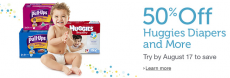50% off Diapers for New Amazon Mom Members Plus HOT $4 off Huggies Coupon!