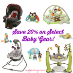 HOT! Save 20% on Baby Gear- Strollers, Car Seats, Toys, Swings, and More!