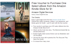 FREE Voucher For Ebook from Kindle Store $1.00!