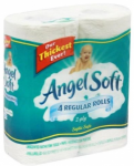 Angel Soft Bath Tissue 4-Pack Only $.72 at Walmart and Dollar General!