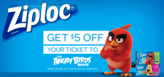 $5 Off Your Ticket To The Angry Birds Movie!
