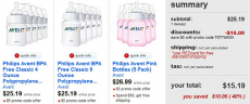 Avent Bottles 5pk- Save 40%= Only $3 Per Bottle from Target!