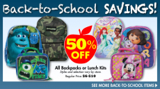 Family Dollar: Backpacks and Lunch Kits 50% off!