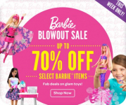 Barbie Blowout Sale- Up to 70% off Barbie Toys + FREE Shipping Offer!