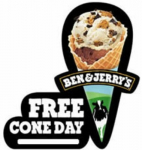FREE Cone Day at Ben & Jerry's on April 8th