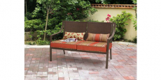 Mainstays Alexandra Square Patio Loveseat Bench Only $74.24! REG $129!