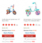 HOT! Kids Bikes Only $19.99 Each + FREE Store Pick-Up! Reg. ($49.99!)