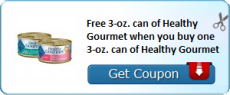 Buy One Get One FREE Blue Buffalo Healthy Gourmet Cat Food Coupon!