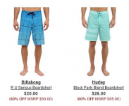 Men's Board Shorts up to 70% off: Body Glove, Adidas, O'Neill and more!