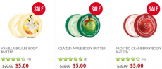 The Body Shop: Up to 75% Off Sale + $5.00 (reg $20.00) Body Butters!
