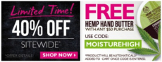 The Body Shop: 40% off Sitewide + free shipping and more!