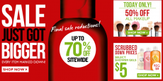 The Body Shop: 50% off ALL Makeup + 70% off Final Sale Reductions!
