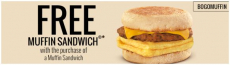 Buy One Get One Free Muffin Breakfast Sandwich at Burger King!