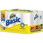 Bounty Basic Large Paper Towels 12-pk only $7.99