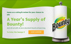 Win A Year's Supply of Bounty Paper Towels!
