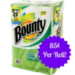 Bounty Paper Towels Only 85¢ Per Mega Roll at Target!