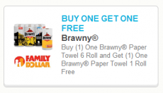 New HIGH VALUE Buy One Get One FREE Brawny Paper Towels Coupon!