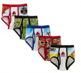 5 Pack Fruit Of The Loom Boys 2-7 Angry Birds Briefs Only $5.99!