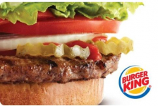 $25.00 Burger King Gift Card For Only $20.00!