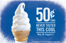 Burger King: Soft Serve Ice Cream Cones Only $0.50!