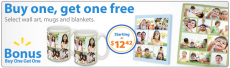 Buy 1 Get 1 Free Photo Gifts from Walmart Photo!