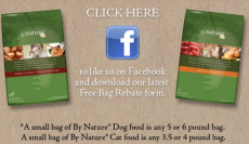 FREE Bag of By Nature Dog or Cat Food after Mail in Rebate!