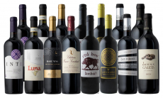 15 Bottles of Winter Red Wine with Wine Thermometer from Splash Wines