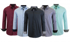 Men's Long Sleeve Stretch Slim-Fit Dress Shirts (S-2XL) Up to 70% OFF