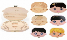 Baby Teeth Save Boxes Wooden Deciduous Souvenir Box $3.89 (REG $18.99)