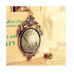 Crystal Queen's Head Cameo Necklace Only $3.49 Shipped!