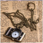 Vintage Camera Watch Necklace Only $3.35 Shipped!