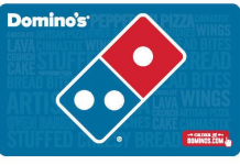 $50 Domino's Pizza eGift Card Only $40 (Email Delivered)!