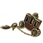 Fairy Tale Cinderella Pumpkin Carriage Locket Necklace Only $.99 Shipped!