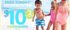Carters: Splash Doorbuster Sale- $10 Swimsuits & $2 Flip-Flops!