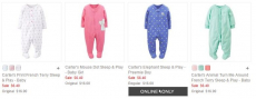 Carter's Footed Pajamas only $5.12 (reg $16)