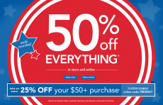 Carter's: 50% off Baby & Kids + Up to an Extra 20% Off!