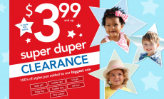 Carter's: Super Duper Clearance Starting at Just $3.99 + $10 off of $50!