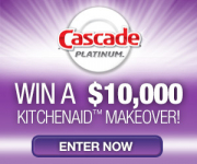 Win a $10,000 KitchenAid Kitchen Makeover from Cascade!
