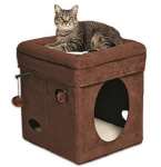 MidWest Homes Feline Nuvo Curious Cat Cube Only $23.99—51% Off!
