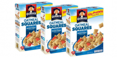 3-Count of 14.5 oz Quaker Oatmeal Squares Breakfast Cereal Only $5.62 Shipped!