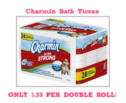 Charmin Bath Tissue Only $.33 Per Roll at Target!