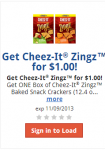 Cheez-It Zings Only $1 a Box at Kroger! Coupon Today Only!