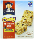 6 Pack of  8 ct Chocolate Chip Quaker Chewy Granola Bars Only $10.98 Shipped!