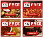 FREE at Chilis: Southwestern Egg Rolls, Sweet Potato Fries, Chips & Salsa, and MORE!