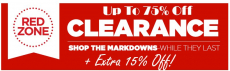 JCPenney: up to 75% off Red Zone Clearance + Extra 15% off!