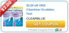 2 New Clearblue Product Coupons