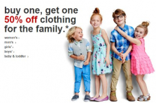 Target: Buy 1 Get 1 50% off Clothing, Shoes, and Accessories for the Whole Family + FREE Shipping Offer!
