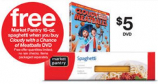 FREE Spaghetti at Target + Movie Deal!