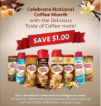 Coffee-Mate $1 off 2 Coupon- First 50,000!