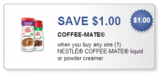 New High Value $1.00/1 Coffee-Mate Creamer Coupon!